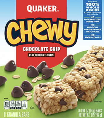 Quaker® Chewy Granola Bars Chocolate Chip